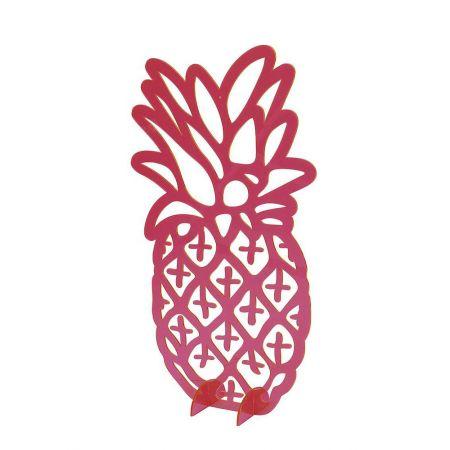 Διακοσμητική ακρυλική σιλουέτα Ροζ διάφανος Ανανάς 45x26cm