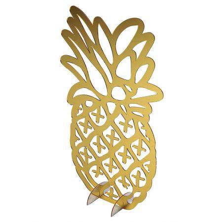 Διακοσμητική ακρυλική σιλουέτα Χρυσός - Ασημί Ανανάς 60x35cm