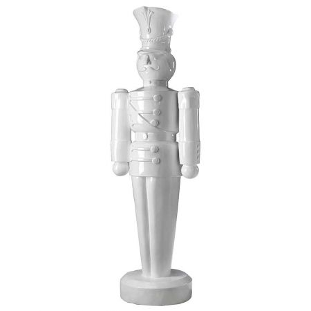 XL Διακοσμητικός καρυοθραύστης λευκός, 63x185cm