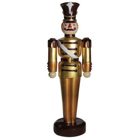 XL Διακοσμητικός καρυοθραύστης χρυσό/καφέ, 63x185cm