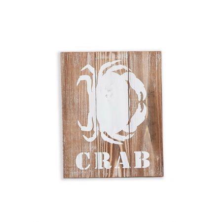 Διακοσμητικός ξύλινος πίνακας με θαλασσινό θέμα CRAB 30x3,5x40cm