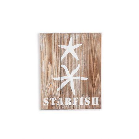 Διακοσμητικός ξύλινος πίνακας με θαλασσινό θέμα STARFISH 30x3,5x40cm