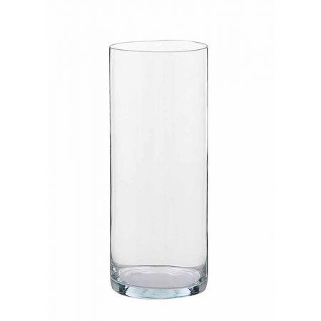 Διακοσμητικό Βάζο Κύλινδρος γυάλινο 19x60cm