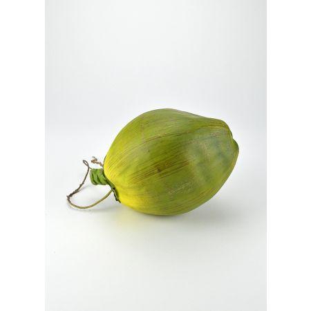 Διακοσμητική καρύδα απομίμηση Πράσινη 13x21cm
