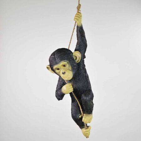 Διακοσμητικός χιμπατζής που κρέμεται από σχοινί 55x24cm