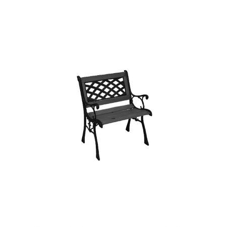Παγκάκι κήπου από ξύλο και μέταλλο Μαύρο 58x54x40/74cm