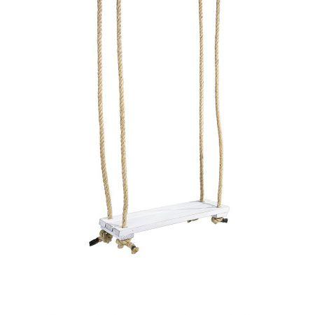 Διακοσμητική κρεμαστή κούνια Λευκή 20x50cm