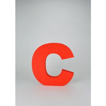 Διακοσμητικό γράμμα C Κόκκινο 29x29x3cm