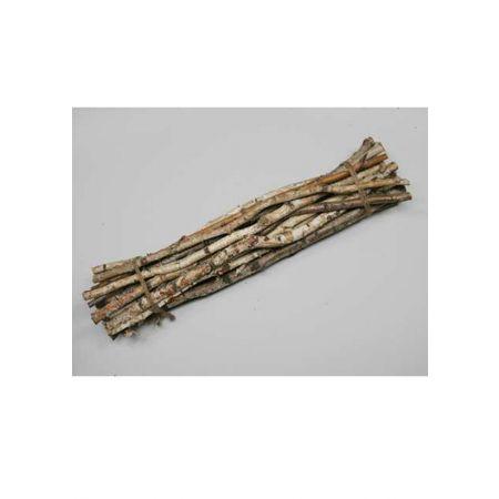 Διακοσμητική φυσική δέσμη με ξερά κλαδιά δεμένα με σχοινί 78cm