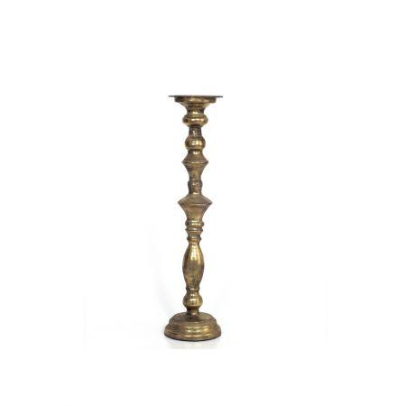 Μεταλλικό κηροπήγιο με παλαιωμένη όψη Χρυσό 12x49cm