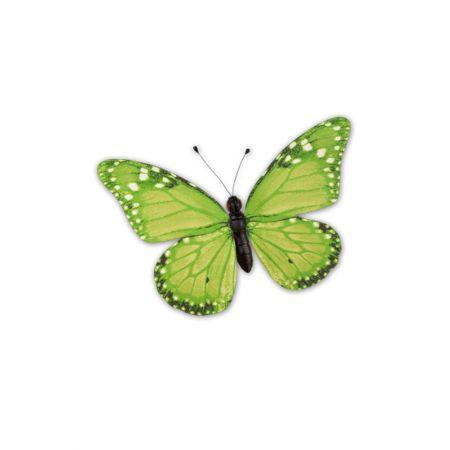 Διακοσμητική πεταλούδα PVC πράσινη, 30x22 cm
