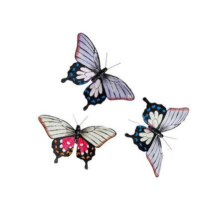 Σετ 3 τεμαχίων πεταλούδες, 17 cm
