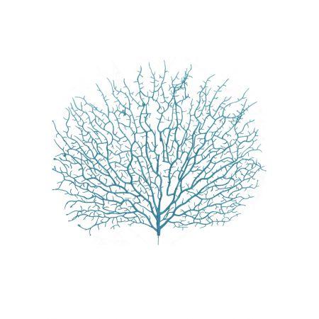 Διακοσμητική δέσμη με κοράλλια Γαλάζιο 45x40cm