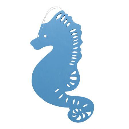 Διακοσμητικός κρεμαστός ιππόκαμπος Γαλάζιος 40cm
