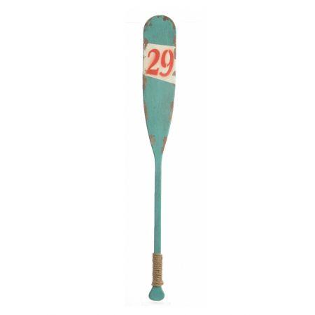 Διακοσμητικό ξύλινο κουπί Γαλάζιο
