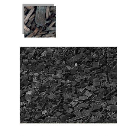 Σετ 1lt Διακοσμητικά κομματάκια ξύλου Μαύρα 10-20mm