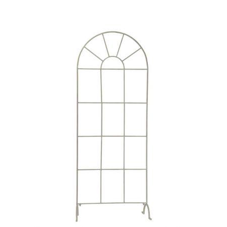 Διακοσμητικό Μεταλλικό Παράθυρο-Αψίδα Γκρι 165x64x34cm