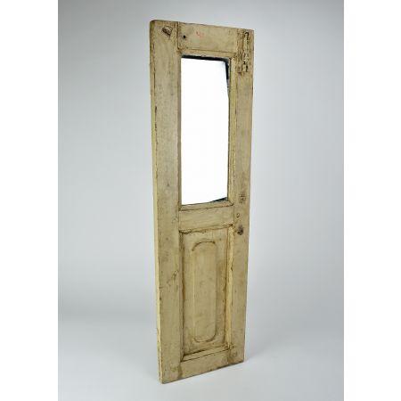 Διακοσμητικό παντζούρι ξύλινο με καθρέπτη Καφέ παλαιωμένο 101.5x29.5cm