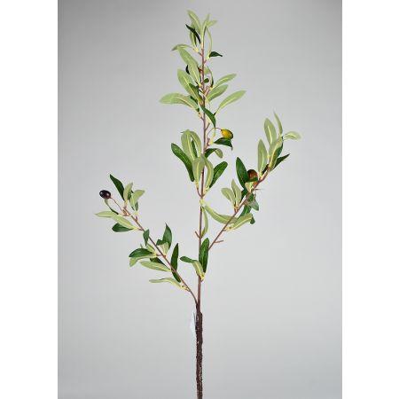 Διακοσμητικό τεχνητό κλαδί ελιάς με φύλλα και ελιές 75cm