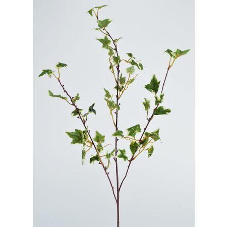 Διακοσμητικό τεχνητό κλαδί με φύλλα Κισσού δίχρωμα 84cm