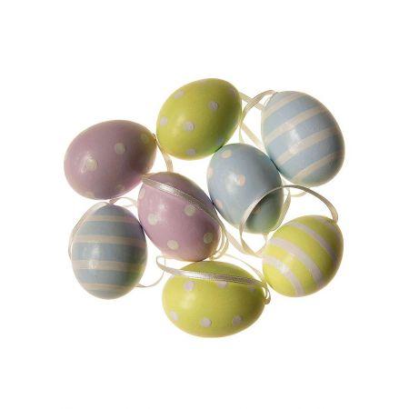 Σετ 8τχ Πασχαλινά αυγά Παστέλ 6cm