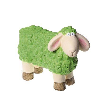 Πασχαλινό κεραμικό Προβατάκι Πράσινο 24x31cm
