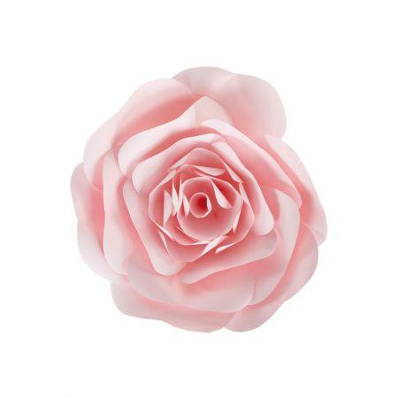 XL Άνθος τριαντάφυλλου χάρτινο Ροζ 40cm