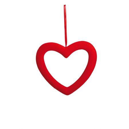 Καρδιά Βαλεντίνου με κενό, βελούδινη 23cm