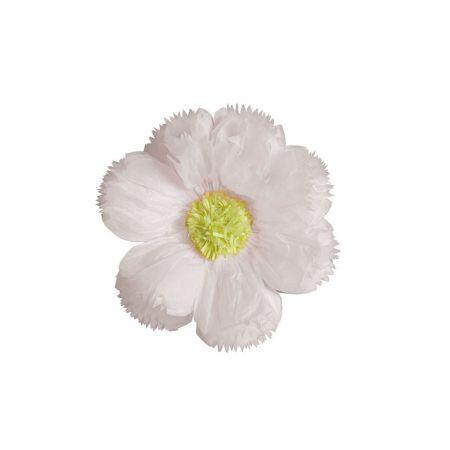 XL διακοσμητικό χάρτινο άνθος Λευκό 40cm