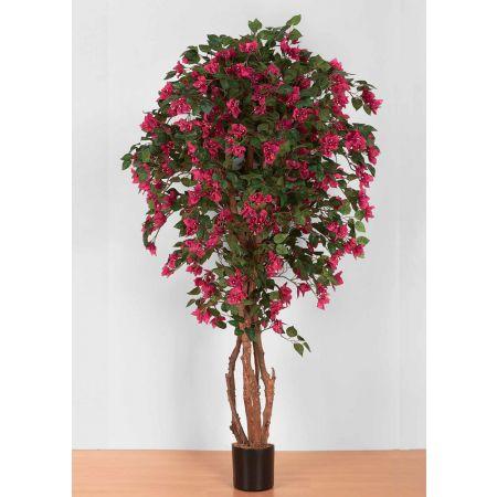 Τεχνητό φυτό Βουκαμβίλια με Φούξια άνθη σε γλάστρα 180cm