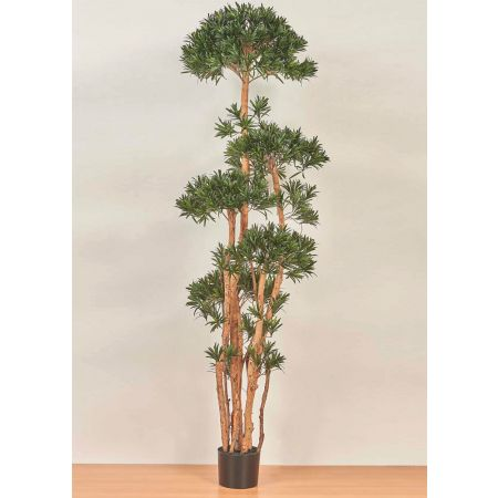 LUK25007-200 Τεχνητό φυτό Ποδόκαρπος σε γλάστρα 200cm