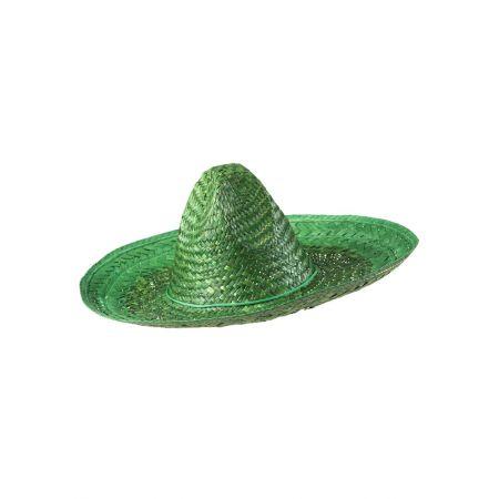 Ψάθινο καπέλο Sombrero Πράσινο 48cm