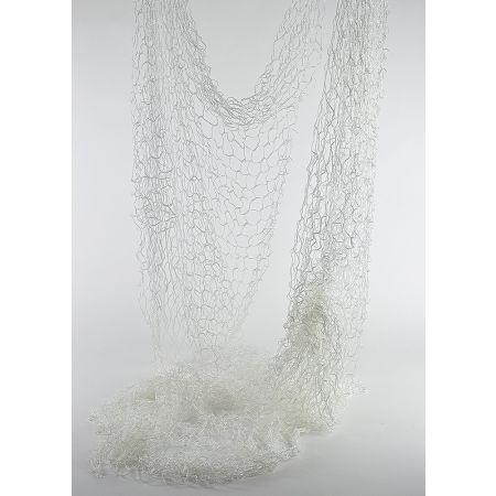 Διακοσμητικό δίχτυ ψαρέματος λεπτό Λευκό 200x600cm