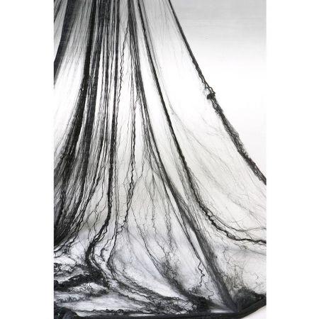 Συσκευασία 100gr Διακοσμητικός ιστός αράχνης Μαύρος