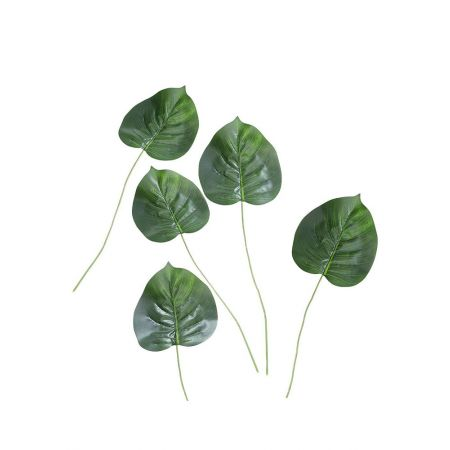 Σετ 5τχ Διακοσμητικά εξωτικά φύλλα Φυλλόδεντρου 60cm