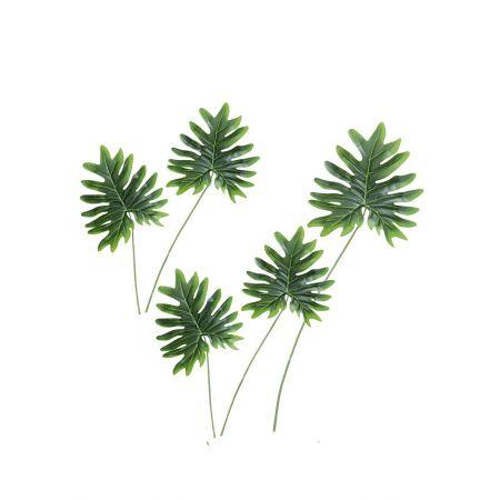 Σετ 5τχ Διακοσμητικά εξωτικά φύλλα Φυλλόδεντρου 61cm