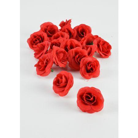 Σετ 20τχ Διακοσμητικά άνθη τριαντάφυλλου Κόκκινα 4,5cm