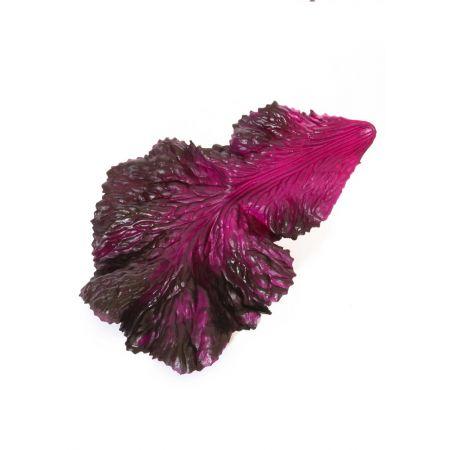 HQ Σετ 3τχ Διακοσμητικά φύλλα μαρουλιού μωβ απομίμηση 16x25cm