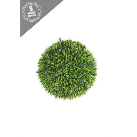 Διακοσμητική τεχνητή μπάλα - Λεβάντα 28cm