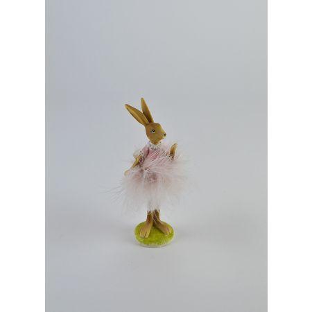 Διακοσμητικό κουνελάκι - μπαλαρίνα 14cm