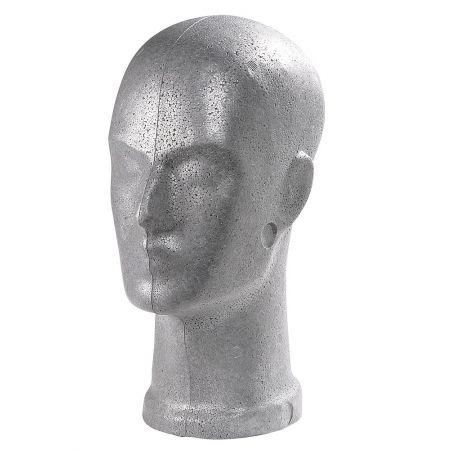 Διακοσμητικό Κεφάλι Ανδρικό Ασημί 32cm