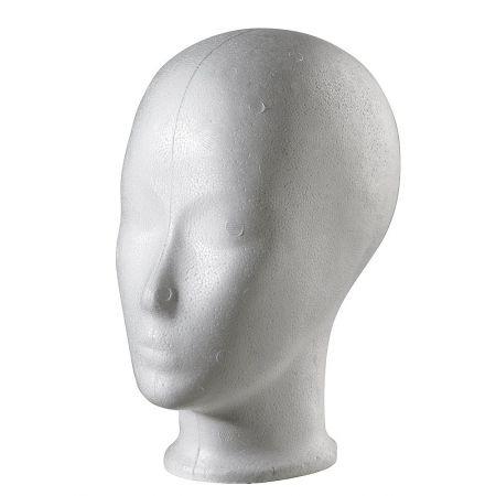 Διακοσμητικό Κεφάλι Γυναικείο Λευκό 24cm