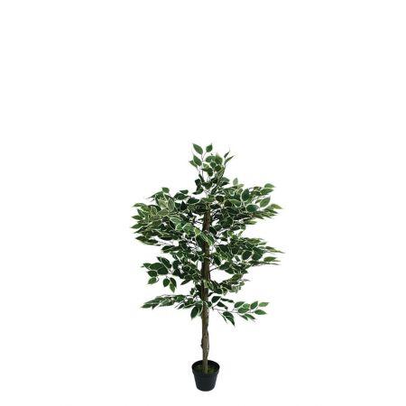 Τεχνητό δέντρο φίκος - Benjamini δίχρωμο σε γλάστρα 120cm
