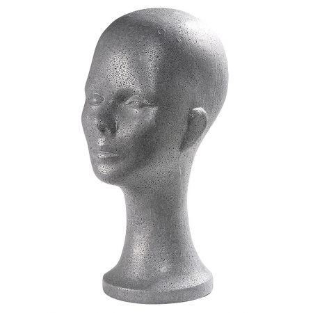 Διακοσμητικό Κεφάλι Γυναικείο Ασημί 35cm