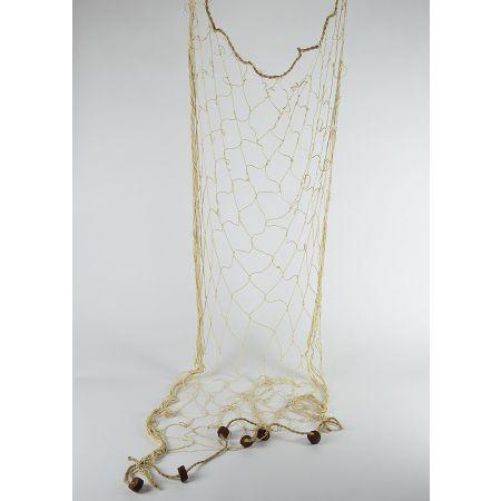 Διακοσμητικό δίχτυ ψαρέματος λεπτό Μπεζ 150x200cm