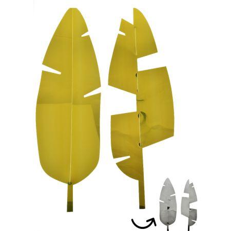 Σετ 2τχ Φύλλο Μπανανιάς PVC Χρυσό - Ασημί 67x20cm