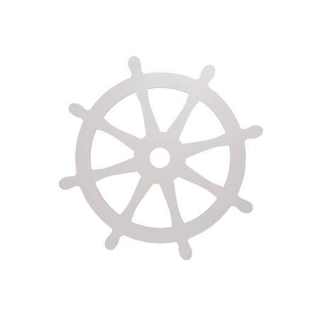 Διακοσμητικό τιμόνι καραβιού - πηδάλιο Λευκό 50cm