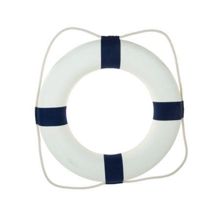 Διακοσμητικό σωσίβιο καραβιού Λευκό - Μπλε 75cm