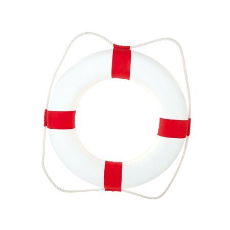 Διακοσμητικό σωσίβιο καραβιού Λευκό - Κόκκινο 75cm