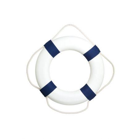 Διακοσμητικό σωσίβιο καραβιού Λευκό - Μπλε 50cm